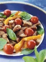 Рецепт Телятина с имбирем и томатом
