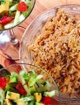 Рецепт Нимбу чавал и салат из грейпфрута