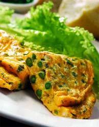 Рецепт Омлет с горошком и мятой