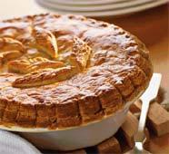 Рецепт Слойка с кровяной колбасой и яблоками грэнни смит