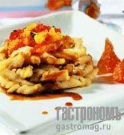 Рецепт Судак с пряностями и цитрусовым салатом