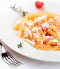 Рецепт Пенне с икорным соусом