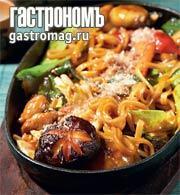 Рецепт Яки удон - лапша удон, жаренная с морепродуктами и овощами