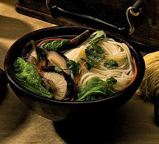 Рецепт Острый суп с шиитаке и пекинской капустой