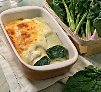 Рецепт Каннеллони со шпинатом