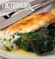 Рецепт Листья мангольда, фаршированные ягнятиной и кускусом