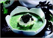 Рецепт Суп из кресс-салата с черной икрой