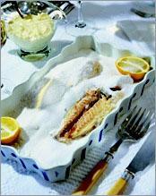 Рецепт Дорада в соляной печи