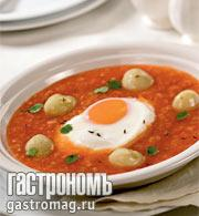 Рецепт Густой суп с помидорами и картофелем