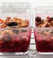 Рецепт Горячий десерт из черешни с мюсли