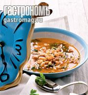 Рецепт Каталонский зеленый суп со свининой и креветками