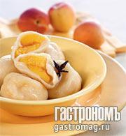 Рецепт Кнедлики с абрикосами и пряным сиропом