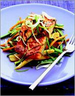 Рецепт Лосось с соевым соусом и овощами
