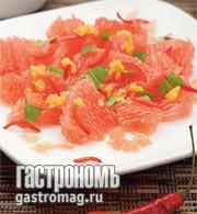 Рецепт Салат из грейпфрутов с меллисой