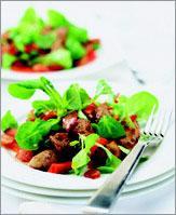 Рецепт Салат из куриной печенки и латука