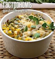 Рецепт Рагу из кукурузы с зеленой фасолью и орегано