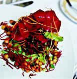 Рецепт Салат из лепестков роз с трюфельным маслом