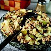 Рецепт Рыбный салат. Салат из печени трески