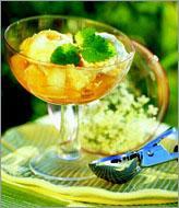 Рецепт Фруктовый салат с мороженым