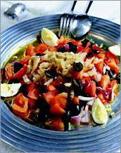Салат рыбно-авокадный – кулинарный рецепт