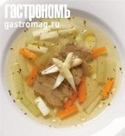 Рецепт Суп с утиным мясом и спаржей