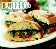 Рецепт Средиземноморская овощная чиабатта