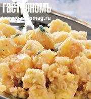 Рецепт Давленый красный картофель с сыром горгонзола