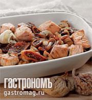 Рецепт Жареная свинина с сушеным инжиром