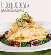 Рецепт Паста с кремом из петрушки и обжаренным цукини