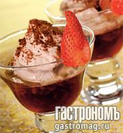 Рецепт Клубничная гранита со сливками