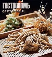 Рецепт Зару соба - гречневая лапша, креветки и овощи темпура