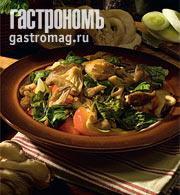 Рецепт Теплый салат из вешенок и шпината