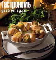 Рецепт Улитки, запеченные с миндалем