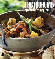 Рецепт Картофель с чечевицей в индийском стиле