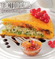 Рецепт Морковная запеканка с индейкой и соусом из сухофруктов