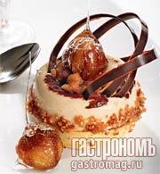 Рецепт Каштановый саварен с ромом и ванильным соусом