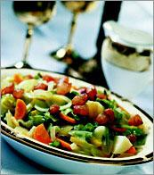 Рецепт Овощи с салом по-голландски