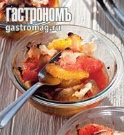 Рецепт Цитрусовый гратен с обжаренным миндалем