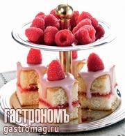 Рецепт Малиновые пирожные