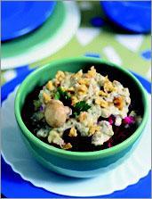 Рецепт Свекла с соусом из зеленого сыра с грецкими орехами