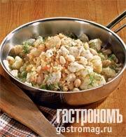Рецепт Паэлья с треской и цветной капустой