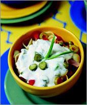 Рецепт Балканский салат с пастой и копченостями
