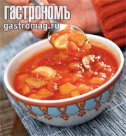 Рецепт Томатный суп с манго