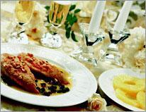 Рецепт Куриные грудки с каперсами, кедровыми орехами и изюмом