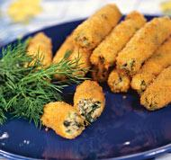 """Рецепт """"Пальчики"""" из щавеля, кинзы и сыра"""