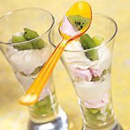 Рецепт Десерт из зефира и киви