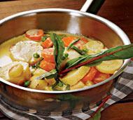 Рецепт Жардиньер из свежих молодых овощей