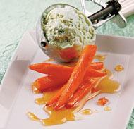 Рецепт Мятное мороженое с карамелизированной морковью