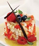 Рецепт Фруктовый тартар с ванильным соусом