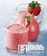 Рецепт Земляничный коктейль с кефиром и медом